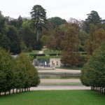 Looking from the castle towards the 1866 statue garden.
