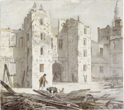 Paul Sandby - Somerset House demolition - 1775